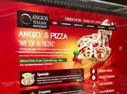 Image of a pizza restaurant website