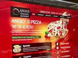 Bild einer Website für eine Pizzeria