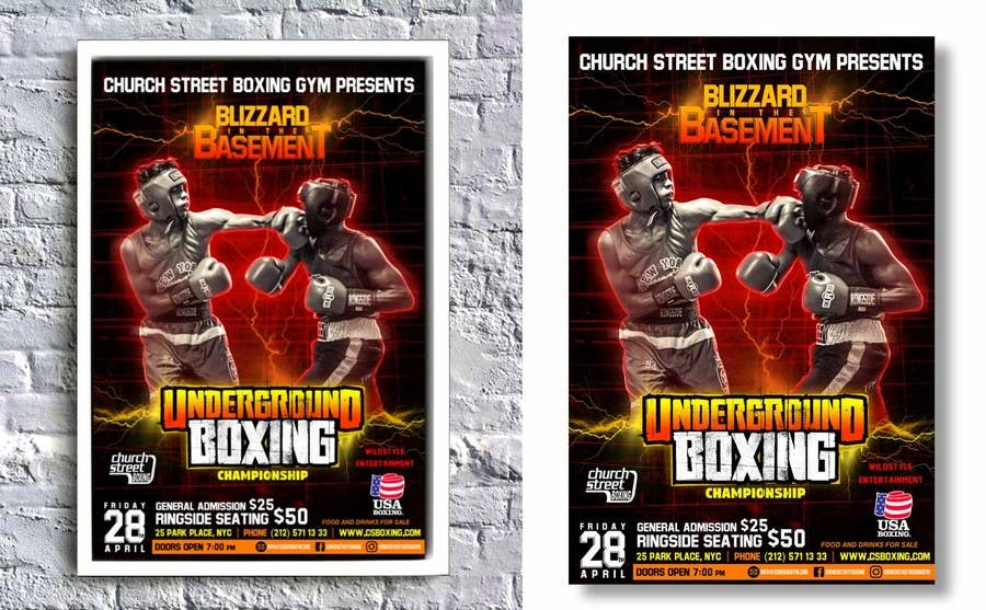 Proposition n°33 du concours Design a Poster for a Boxing Event on April 28