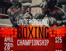 nº 52 pour Design a Poster for a Boxing Event on April 28 par dabanzz