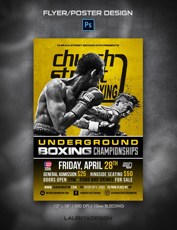 Proposition n°48 du concours Design a Poster for a Boxing Event on April 28