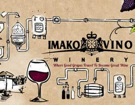 nº 9 pour Hand-drawn illustration of wine-making process par kirasicart