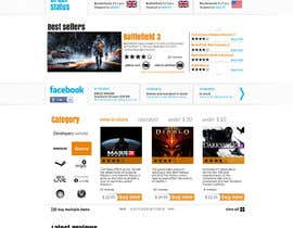 Nro 11 kilpailuun Website Design for CDKEY Warehouse for interspire shopping cart käyttäjältä hipnotyka