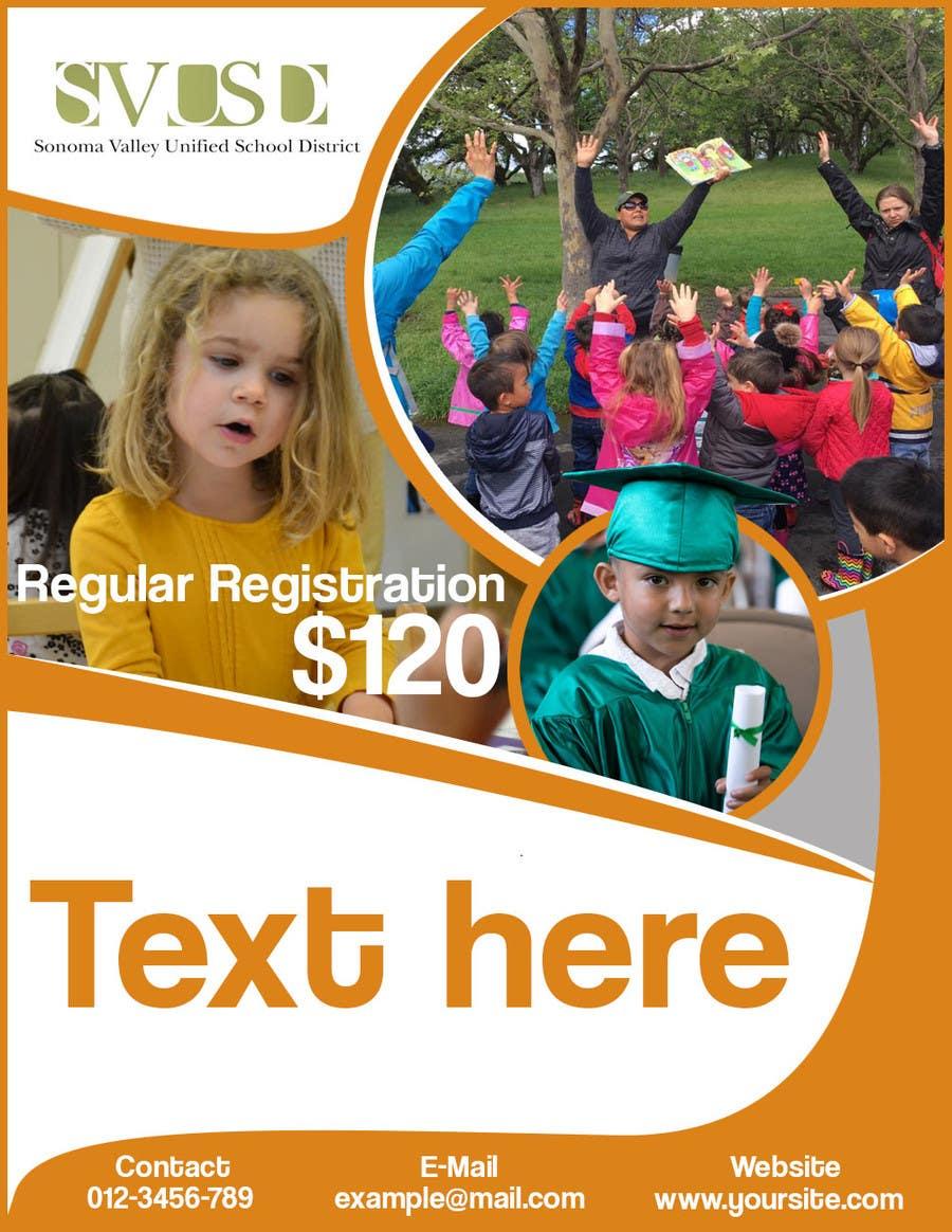 Proposition n°32 du concours Education Preschool and Kindergarten Registration Flyer