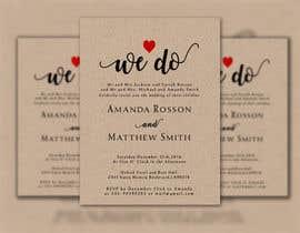 #16 para Design a Wedding Invite de ArefinIslam02