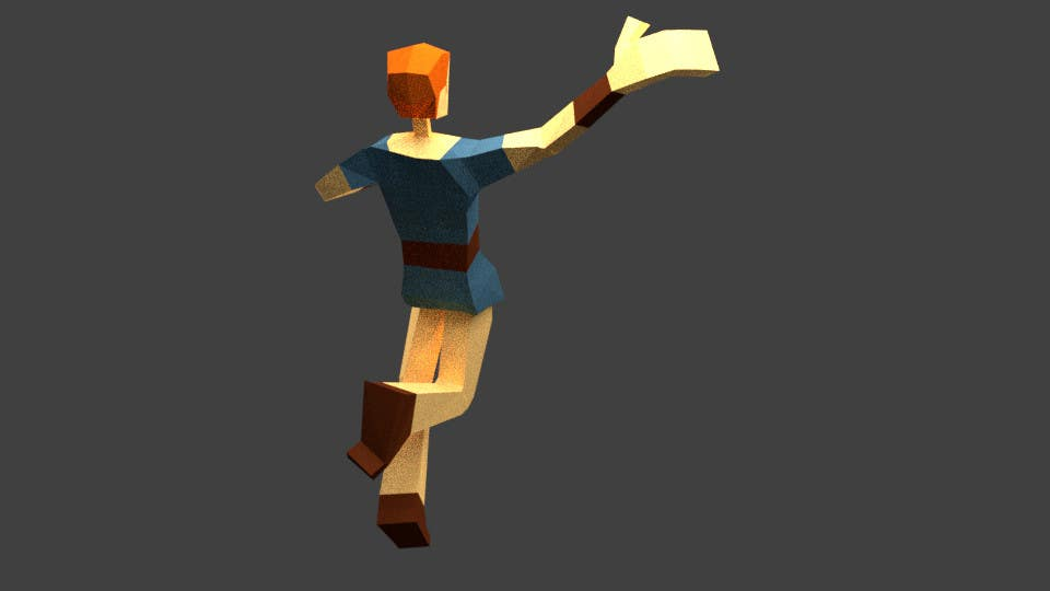 Entry #16 by qulashermit for Model a Low Poly 3d Character