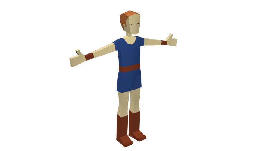 Entry #6 by TopCGer for Model a Low Poly 3d Character