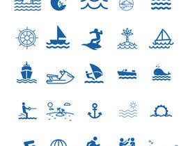 nº 3 pour Design Icon Set (Surf, Ocean, Coast Inspired) par Mobeu