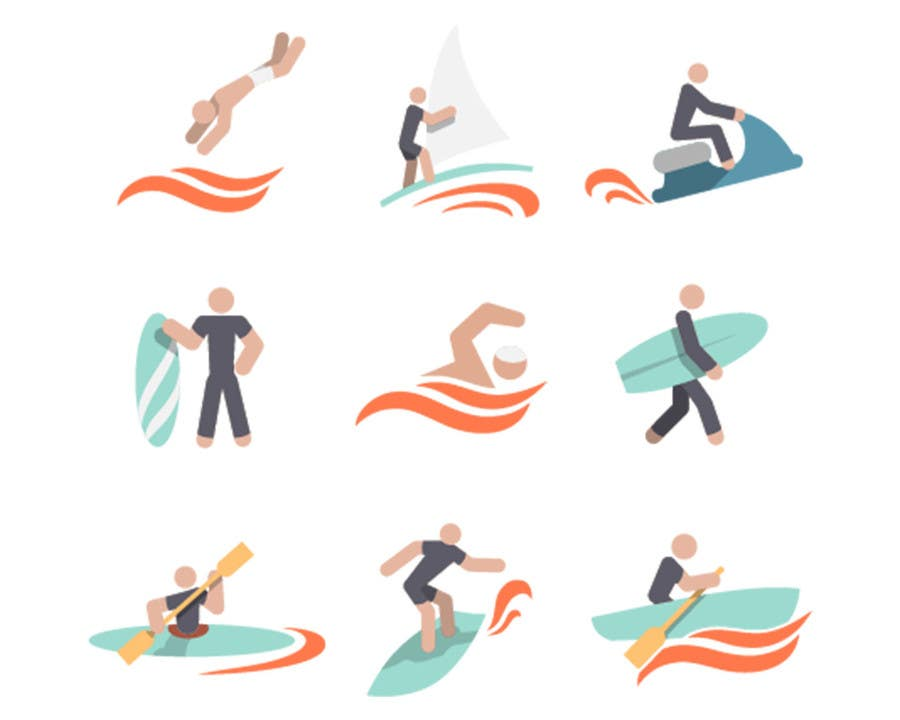 Proposition n°6 du concours Design Icon Set (Surf, Ocean, Coast Inspired)