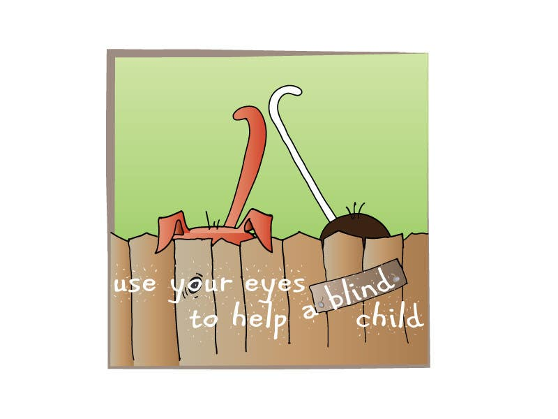 #28 for Cartoon illustration for charity: Use your eyes to help a blind child by misutase