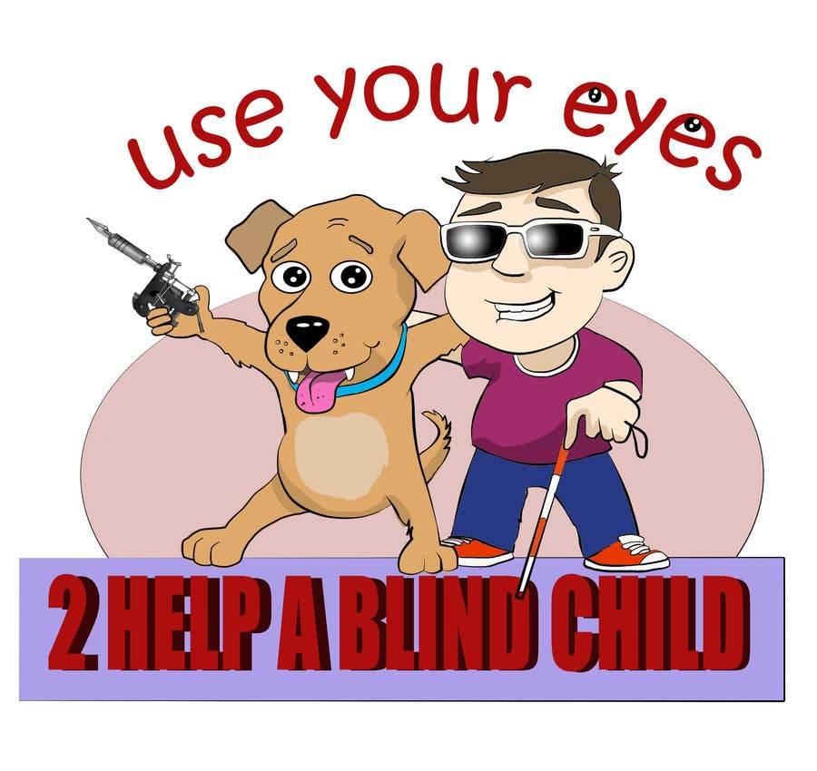 Konkurrenceindlæg #4 for Cartoon illustration for charity: Use your eyes to help a blind child
