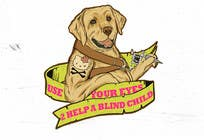 Contest Entry #17 for Cartoon illustration for charity: Use your eyes to help a blind child