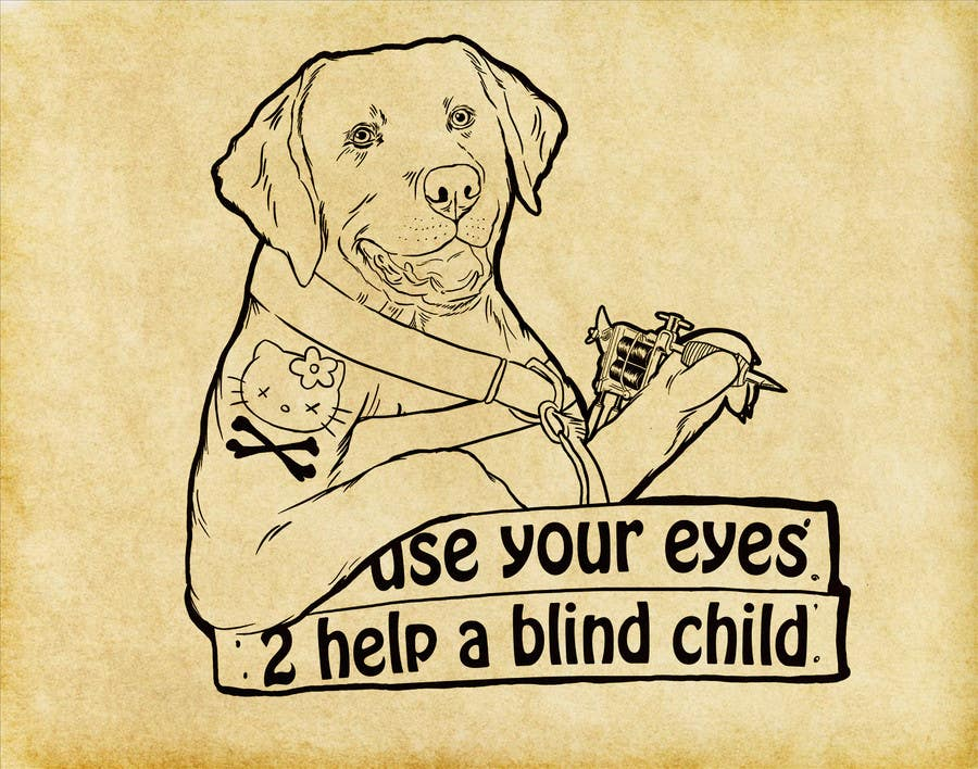 #11 for Cartoon illustration for charity: Use your eyes to help a blind child by supermagnetron