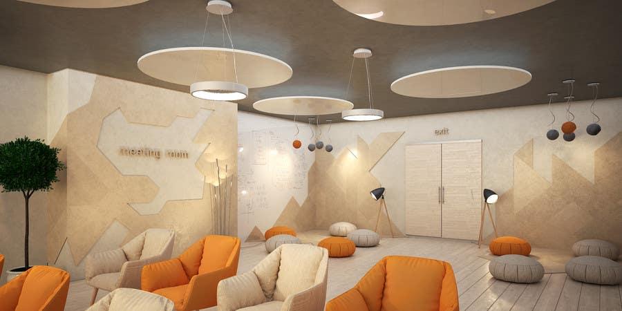 Kilpailutyö #                                        5                                      kilpailussa                                         3d interior Design for 2 rooms (2 days contest) -- 1000$ project