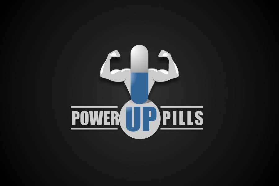 #161 for Logo Design for Power Up Pills by dimitarstoykov