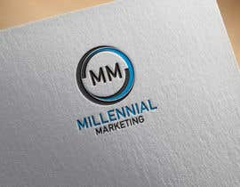nº 81 pour Millennial Marketing Logo Design par probirbiswas815