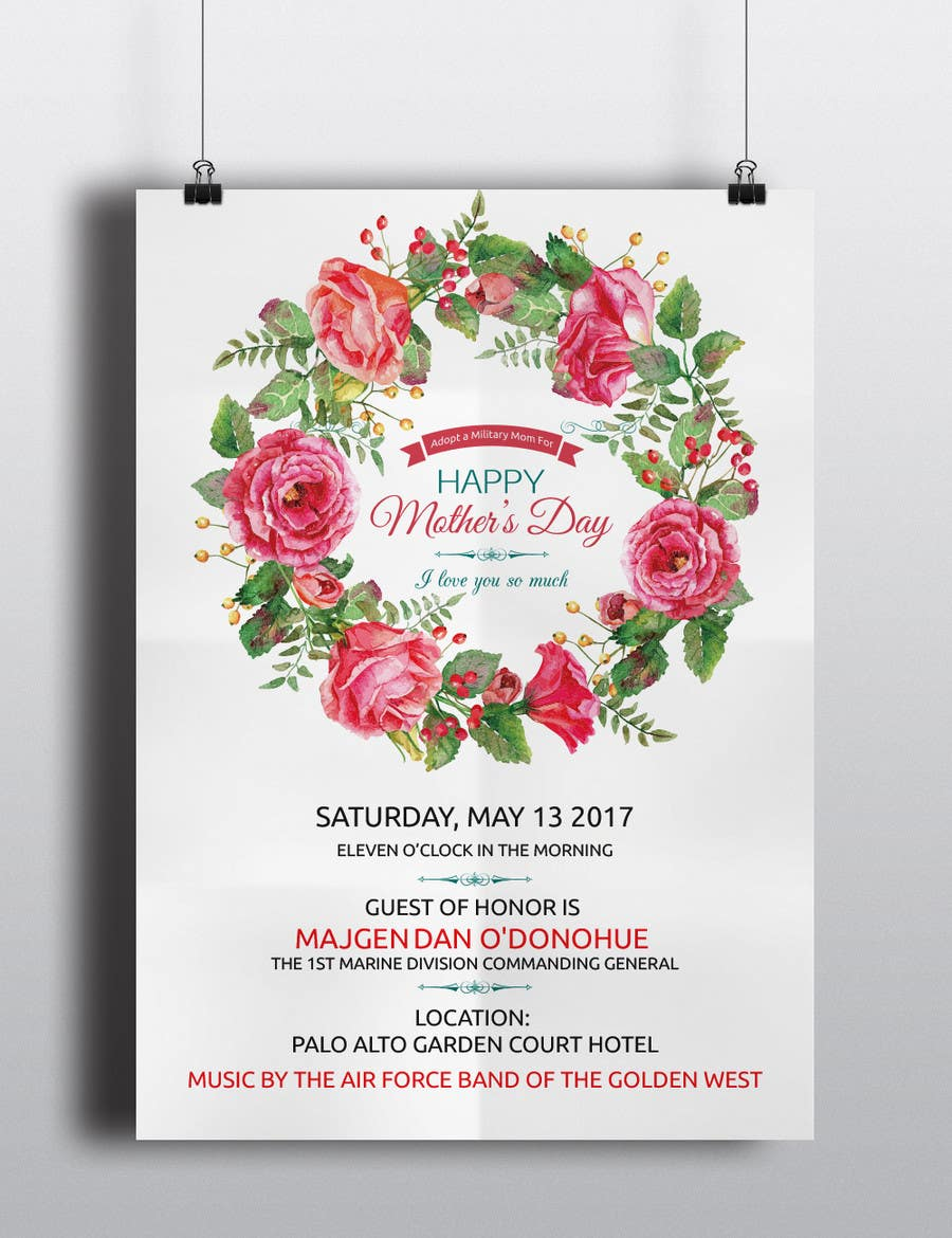 Entry #9 by ROCKdesignBD for Military Mothers Day Flyer Template ...