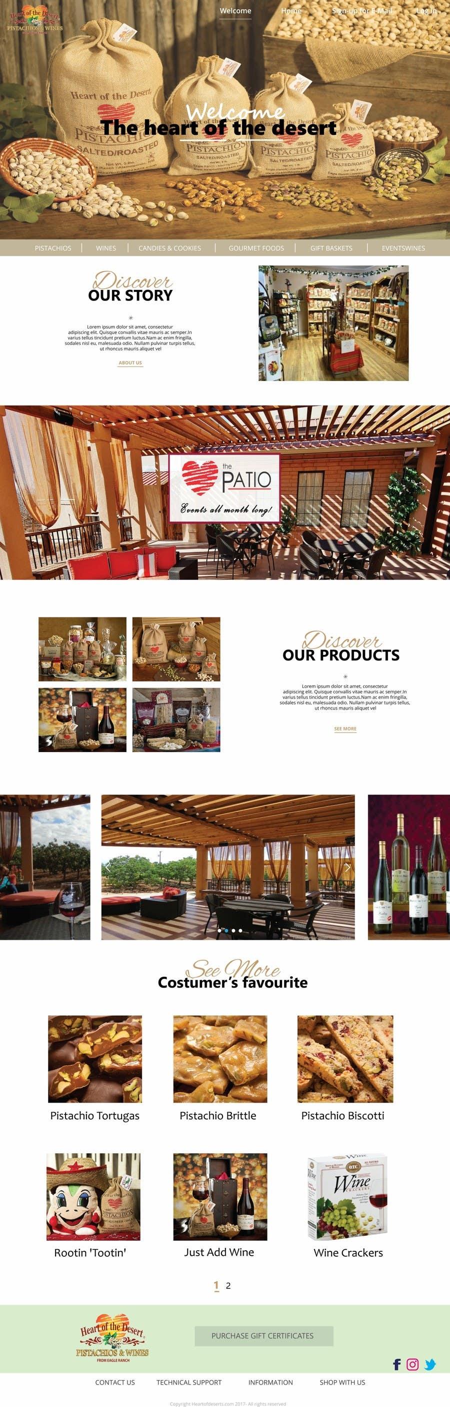Proposition n°37 du concours Design a Website Mockup for E-commerce Site
