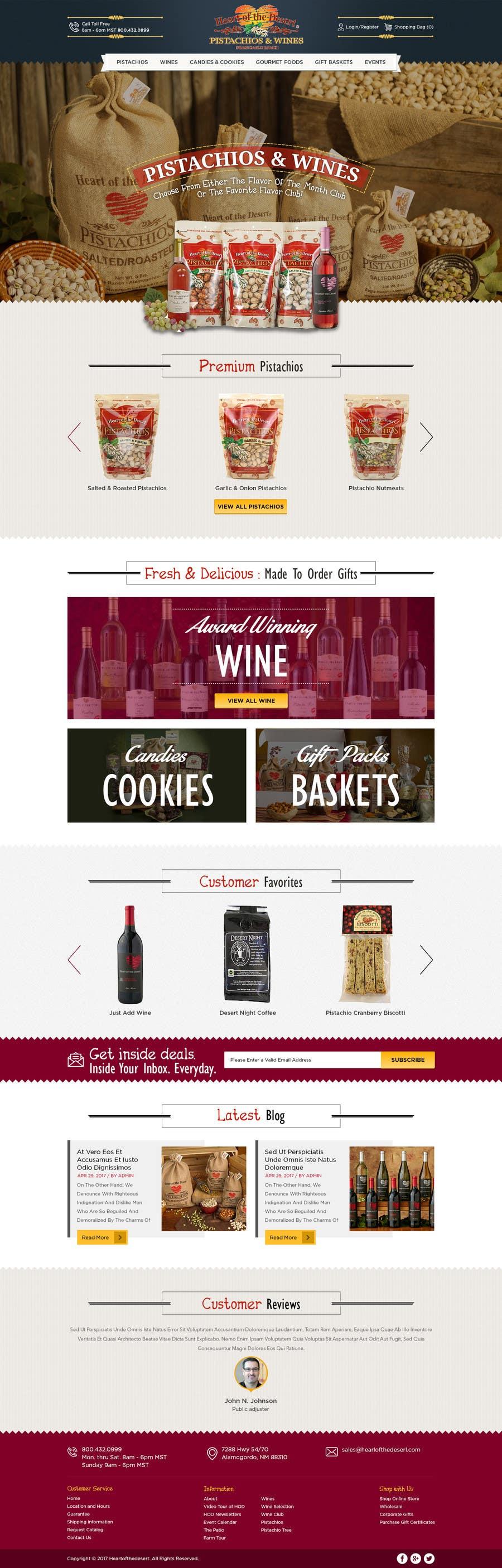Proposition n°2 du concours Design a Website Mockup for E-commerce Site