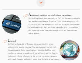 Nro 16 kilpailuun Design website mockups for translation / shop management software käyttäjältä designerdkr