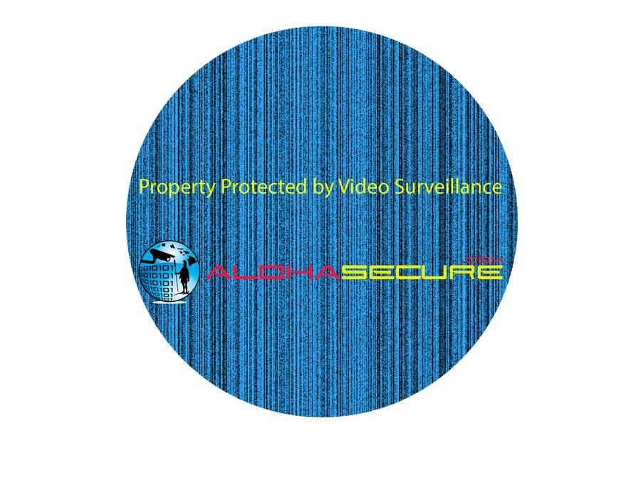 Proposition n°6 du concours Design a sign for security surveillance