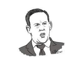 nº 6 pour Line drawing or caricature of Sean Spicer par tarikchraiti