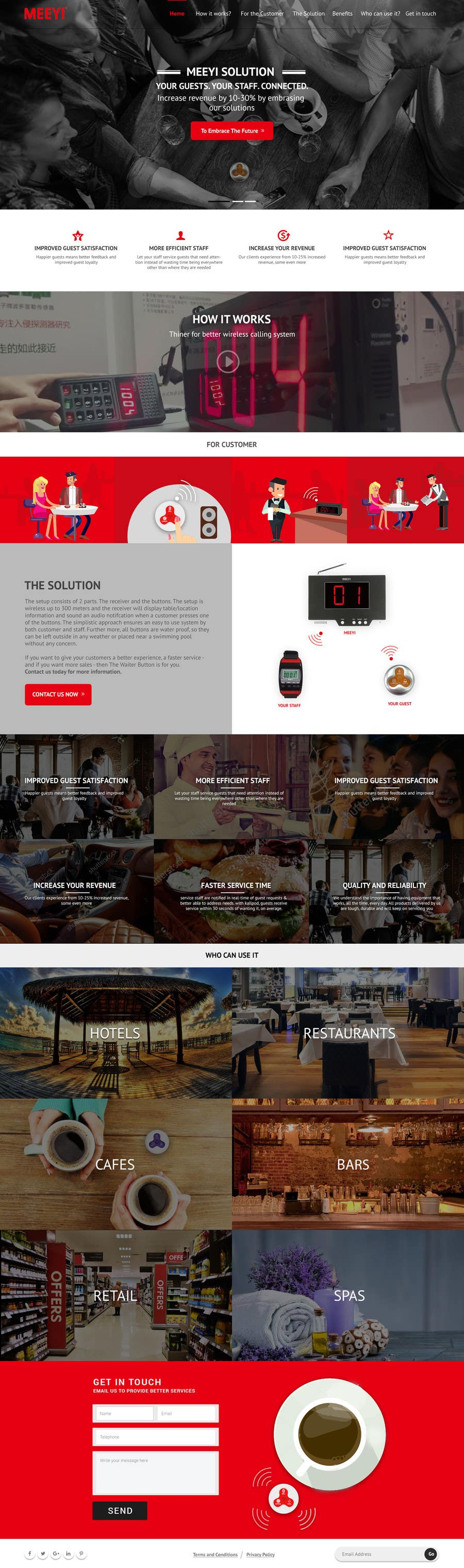Proposition n°26 du concours Design a Website Mockup for a new product