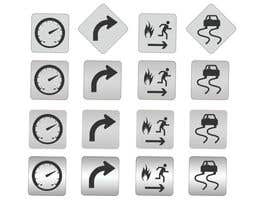 nº 10 pour Re-Design 4 Icons for Driving / Road Signs par whyssonstudio