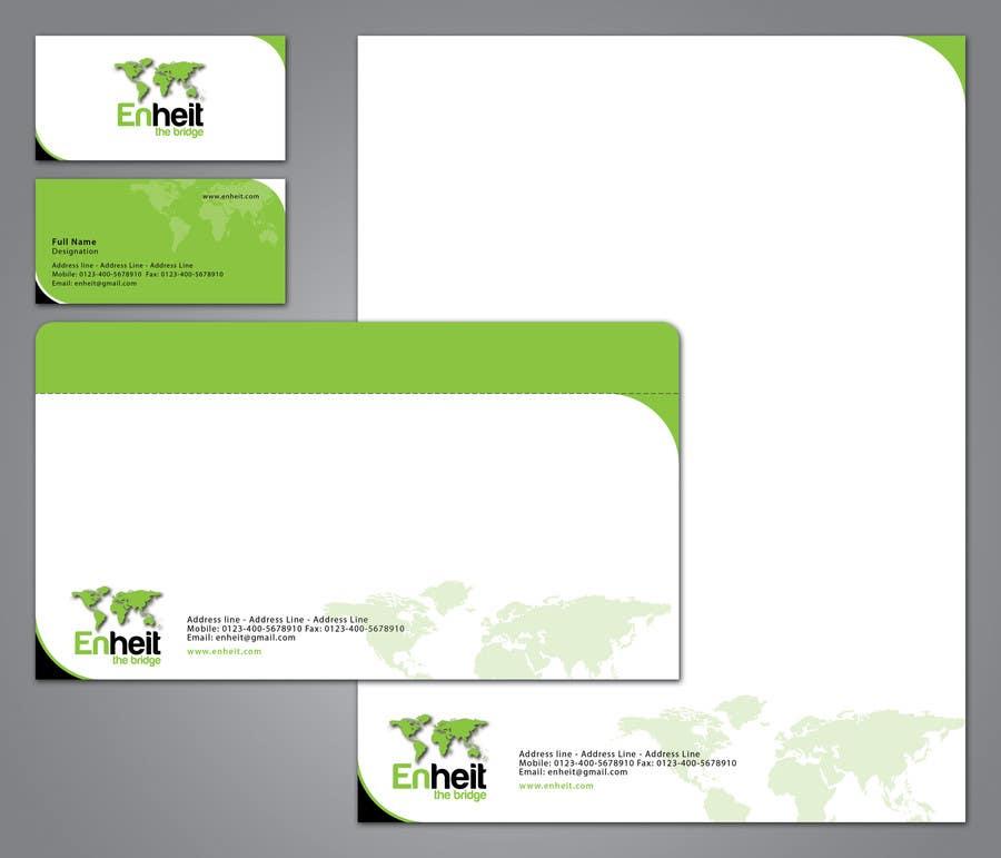 Bài tham dự cuộc thi #                                        11                                      cho                                         Letterhead, business card and envelop package design for Enheit