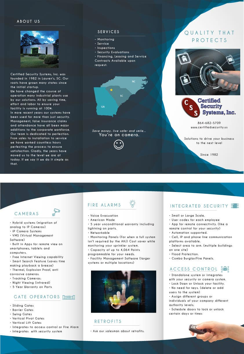 parts of a trifold brochure