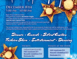 #4 para Print & Packaging Design for Full color, eye catching poster & event ticket for a HOLIDAY GALA por susurs1201