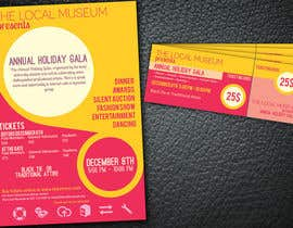 #13 untuk Print & Packaging Design for Full color, eye catching poster & event ticket for a HOLIDAY GALA oleh wik2kassa