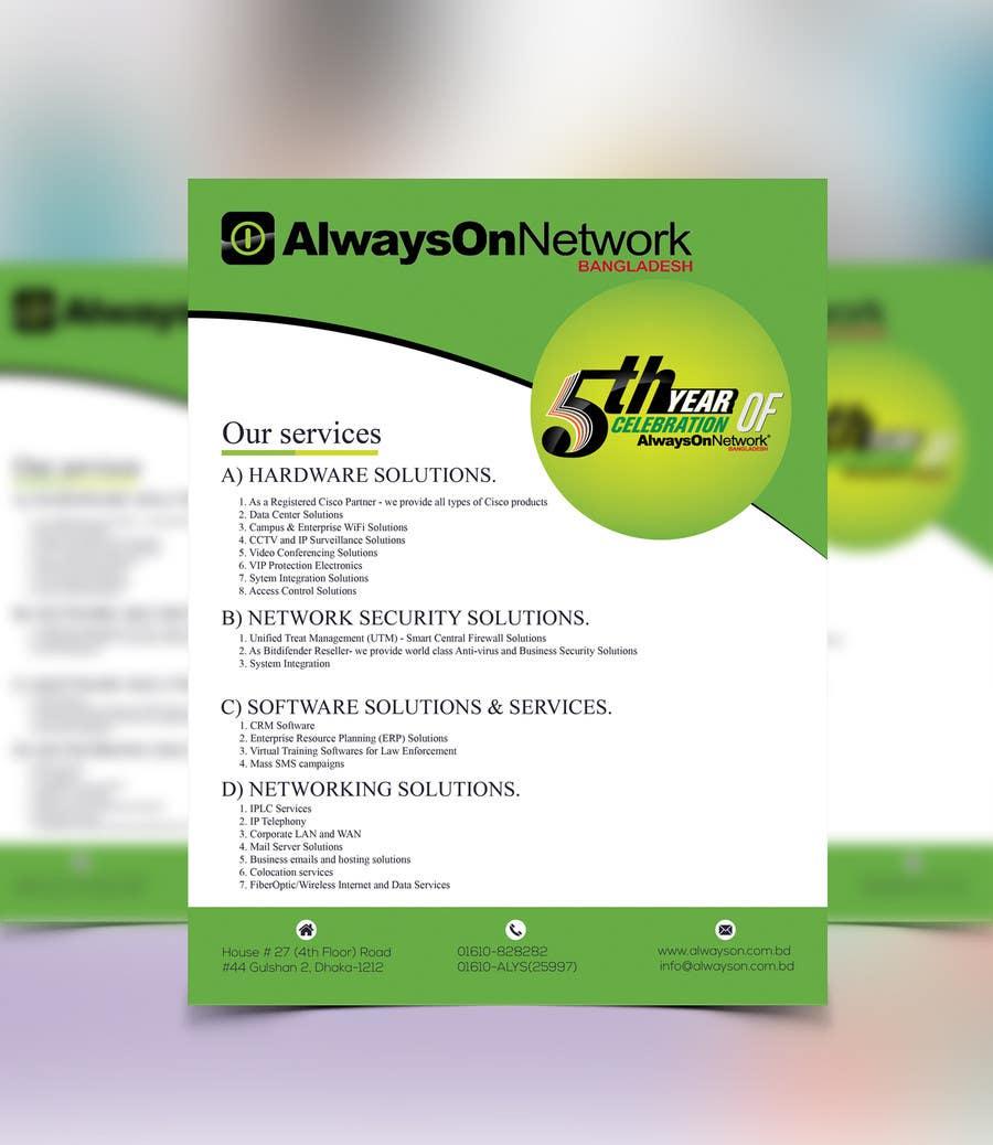 Proposition n°11 du concours Design a Flyer on our services