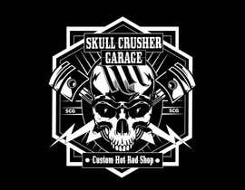 #11 for I need a logo designed for a custom car garage we build hot rods. the shop is call skull crusher garage, the design must include a skull! by fiziaszeman