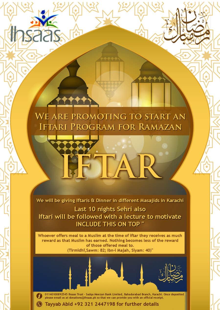 Kilpailutyö #                                        25                                      kilpailussa                                         Ihsaas Trust Ramazan Iftari Program