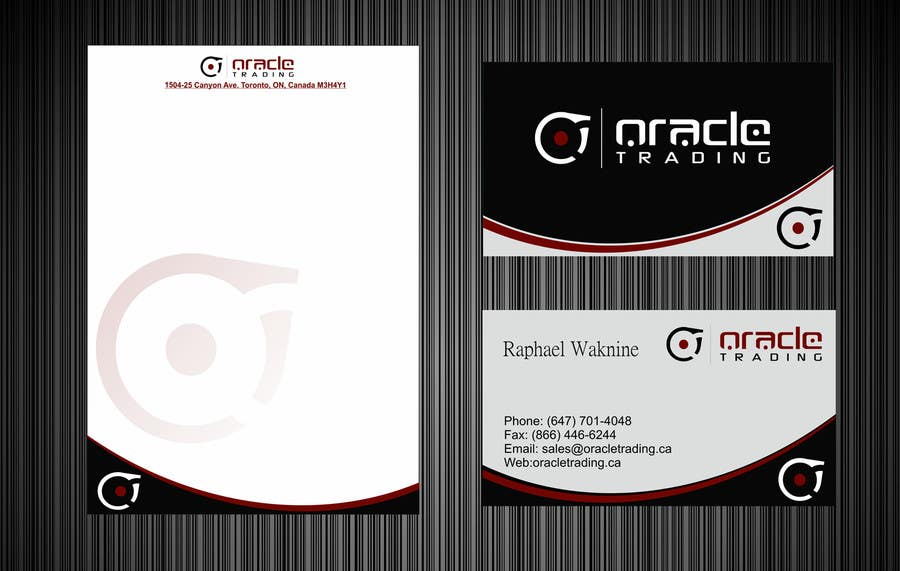 Entry 42 by pradeepkumar86 for business card letterhead design contest entry 42 for business card letterhead design for oracle trading inc colourmoves