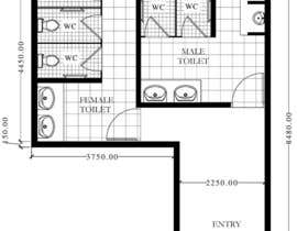 #4 for Restrooms design (Autocad) by rezonbd
