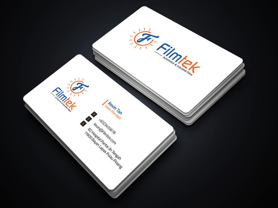 Proposition n°167 du concours Design some Business Cards For Automotive and Instrial Film COmpany