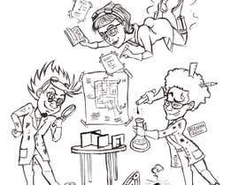 #28 for Illustrate 3 Characters of 3 Scientists in a Lab by abrahmatan