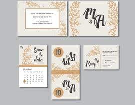 Nro 2 kilpailuun Design a modern Wedding invitation template set käyttäjältä farfalli
