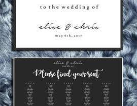 Nro 13 kilpailuun Design a modern Wedding invitation template set käyttäjältä zahra0501
