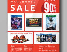 #11 for Design a Flyer for Video Games Warehouse Sales. by CreativeAnamul