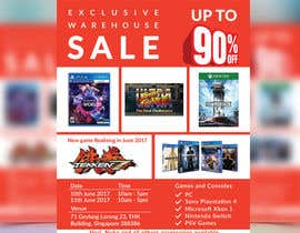 #30 for Design a Flyer for Video Games Warehouse Sales. by CreativeAnamul