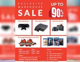 #34 for Design a Flyer for Video Games Warehouse Sales. by CreativeAnamul