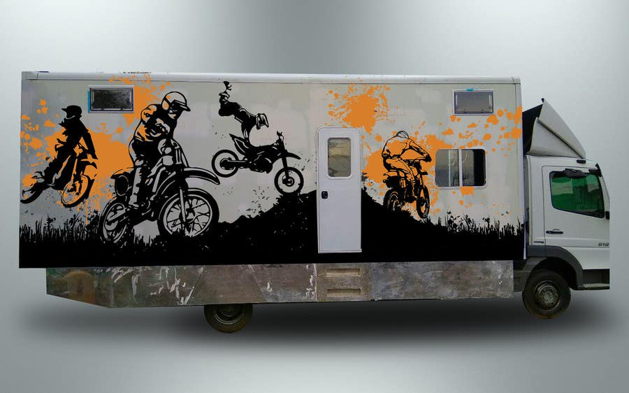 Proposition n°13 du concours Разработка оформления для грузовика мотокроссменов