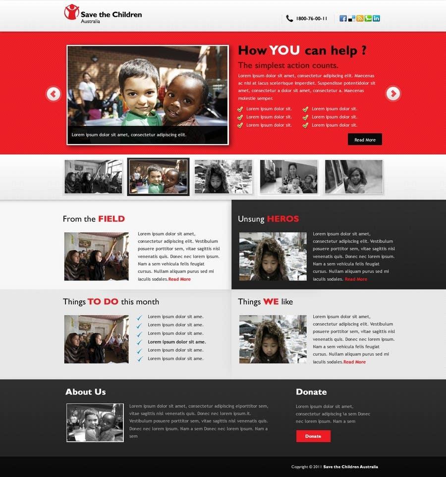 Participación en el concurso Nro.                                        77                                      para                                         HTML Email for Save the Children Australia