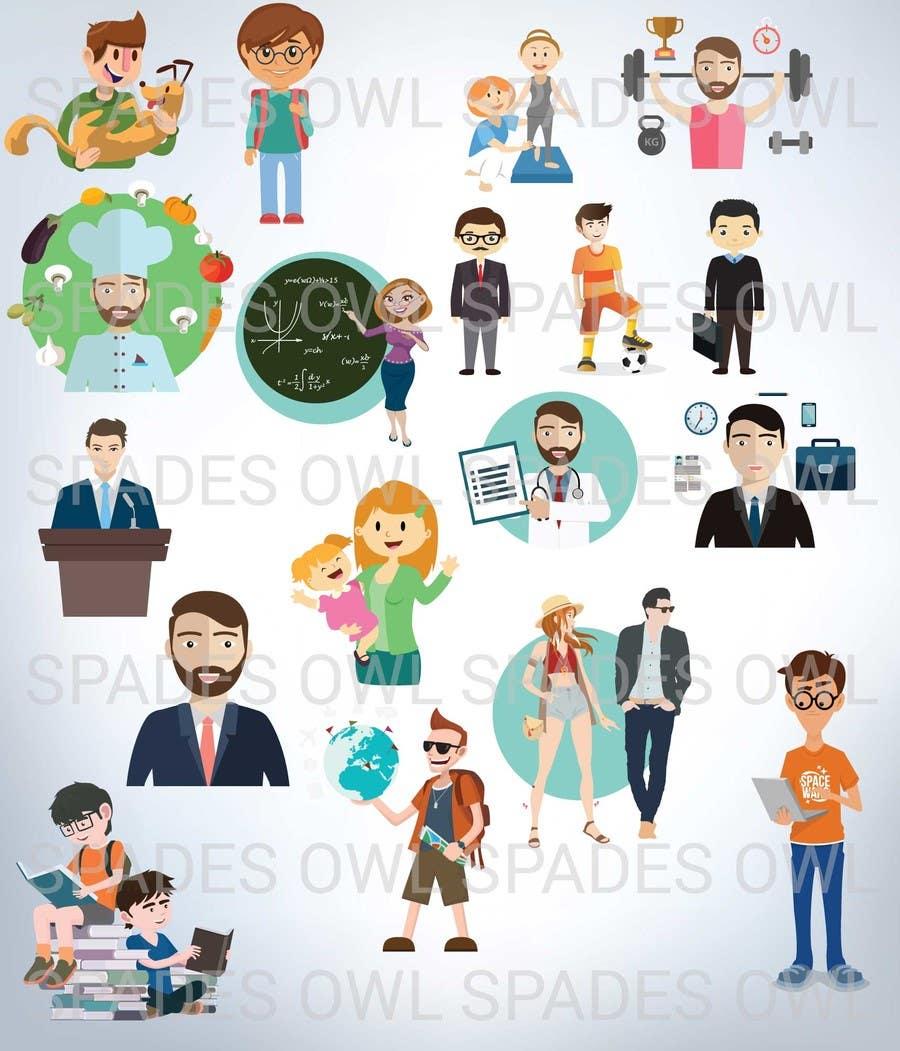 Kilpailutyö #                                        4                                      kilpailussa                                         Create 20 cartoon avatar