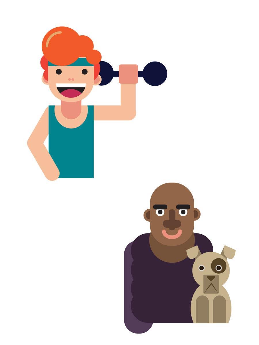Kilpailutyö #                                        1                                      kilpailussa                                         Create 20 cartoon avatar