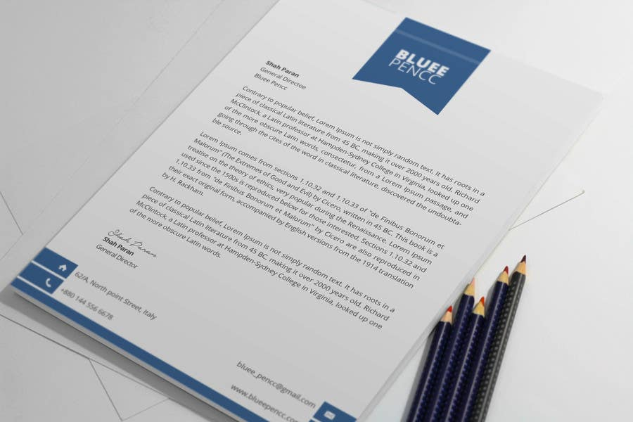 Entry By Bismillahit For Create Letterhead In Word Or Google Docs - Google docs letterhead