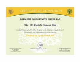 Nro 9 kilpailuun Certificate Template käyttäjältä jhonfrie